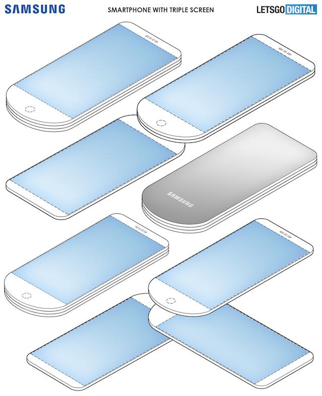 Samsung se třemi displeji