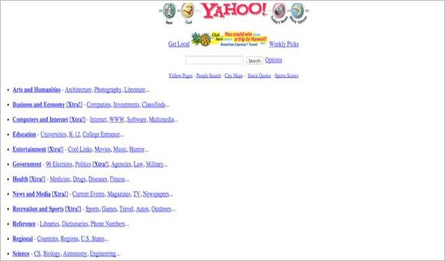 Yahoo před více než 20ti lety