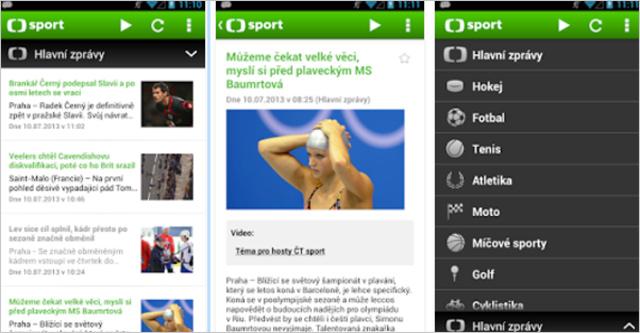 ČT sport aplikace
