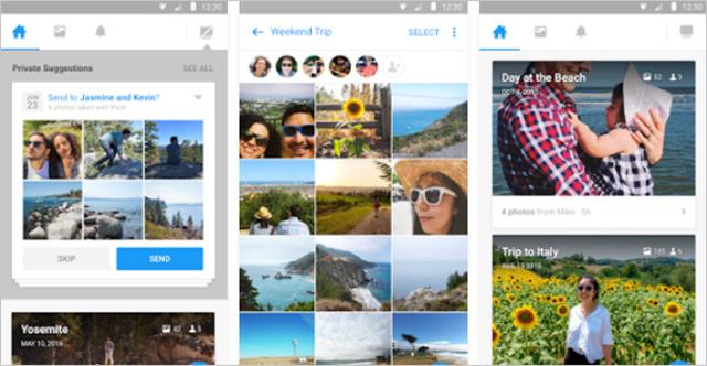 Aplikace Moments k Faceboku