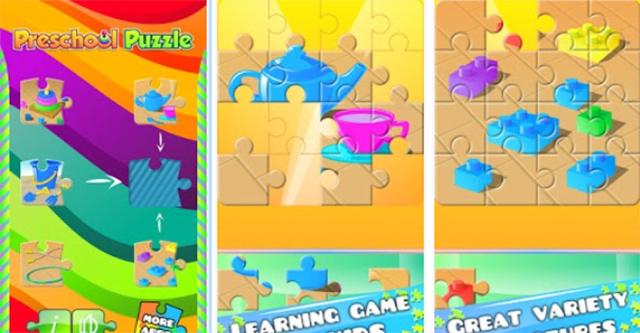 Alikace Puzzle pro předškoláky