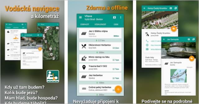 Aplikace Vodácká navigace