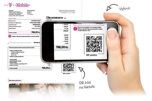 QR kódy na fakturách u T-Mobile