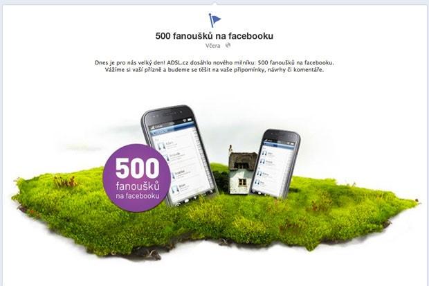 Máme 500 fanoušků na facebooku
