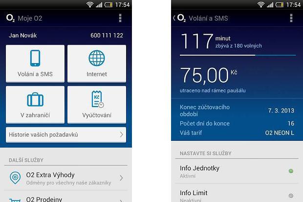 Mobilní aplikace Moje O2 je dostupná i pro iPhone