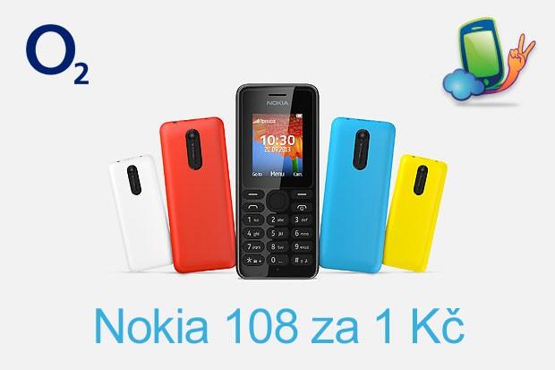O2: Nokia 108 jako dárek