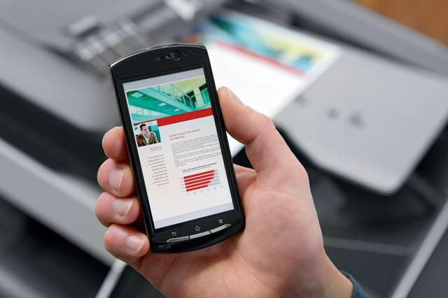 Nejnovější tiskárny Konica Minolta ovládnete svým chytrým telefonem