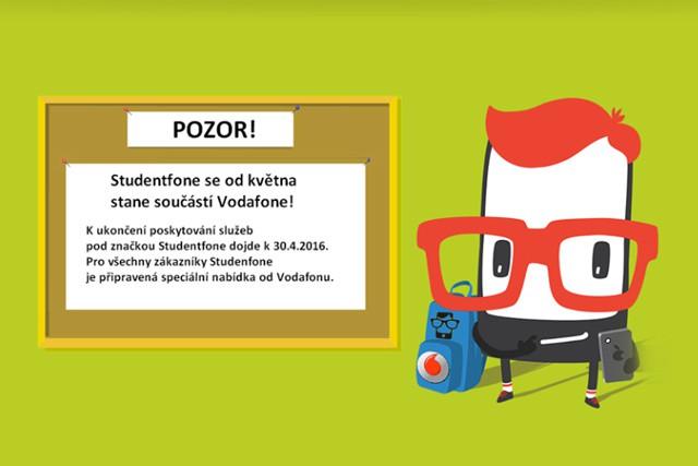 Další virtuální operátor končí! Studentfone se stane součástí Vodafonu.