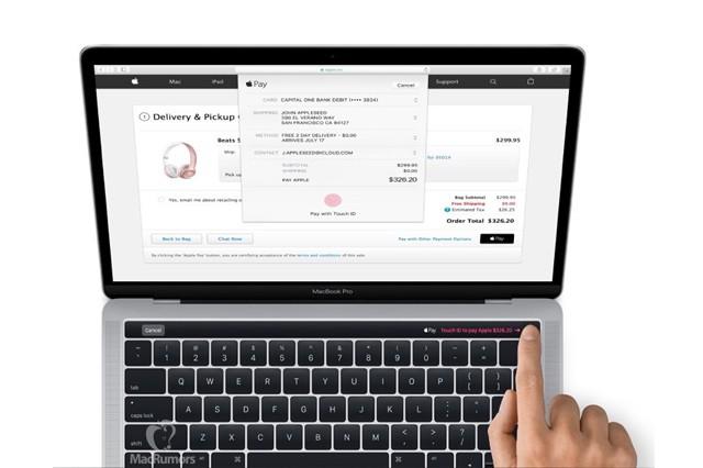 Nový MacBook má dotykový panel