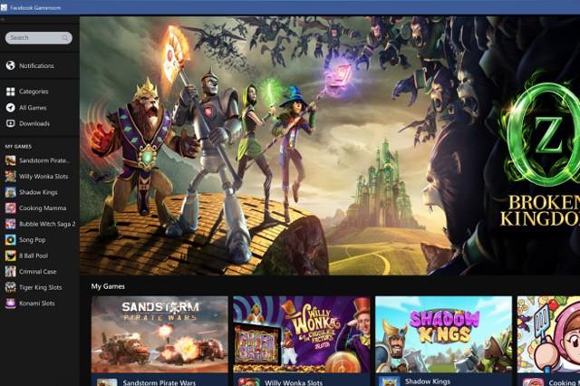 Facebook spustil svou herní platformu Gameroom