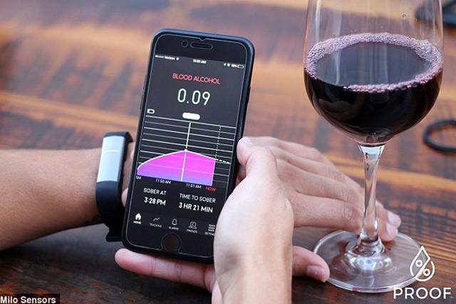 Alkohol Tester vchytrém náramku PROOF™