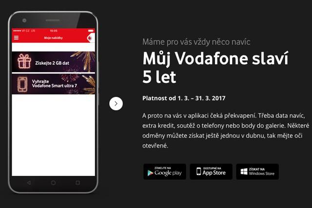 Můj Vodafone slaví 5 let a rozdává dárky