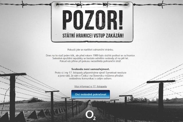 O2 za kampaň k 17. listopadu získalo prestižní ocenění