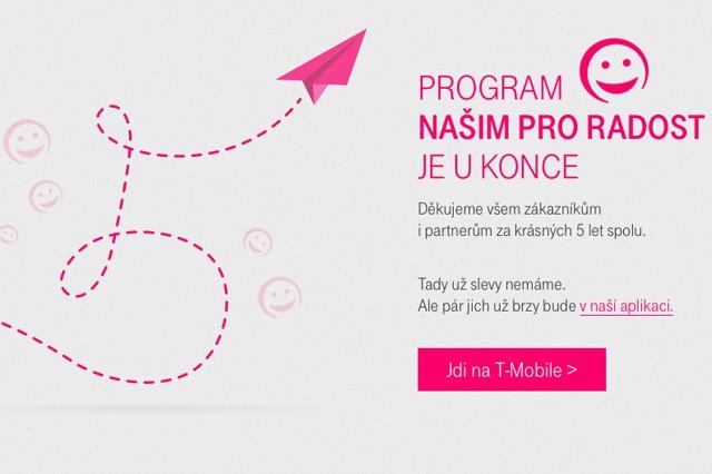 T-Mobile ukončil program Našim pro radost