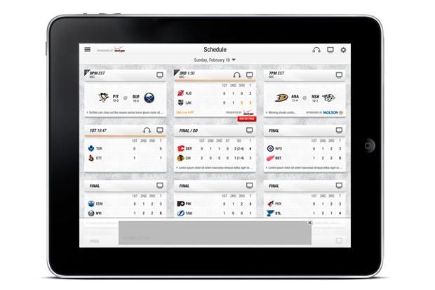 NHL aplikace – zážitek z každého zápasu