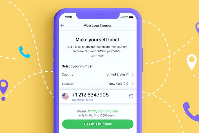 Díky Viber Local Number můžete volat v zahraničí bez poplatků