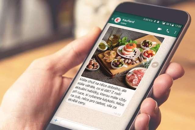 Kaufland začal posílat newsletter přes WhatsApp