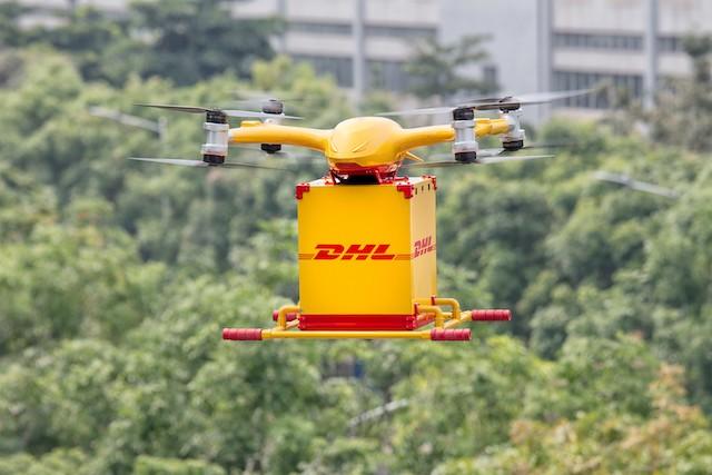 DHL doručuje v Číně zásilky v Číně autonomními drony