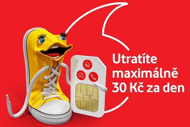 S novou předplacenkou od Vodafonu nezaplatíte za den víc než 30 korun