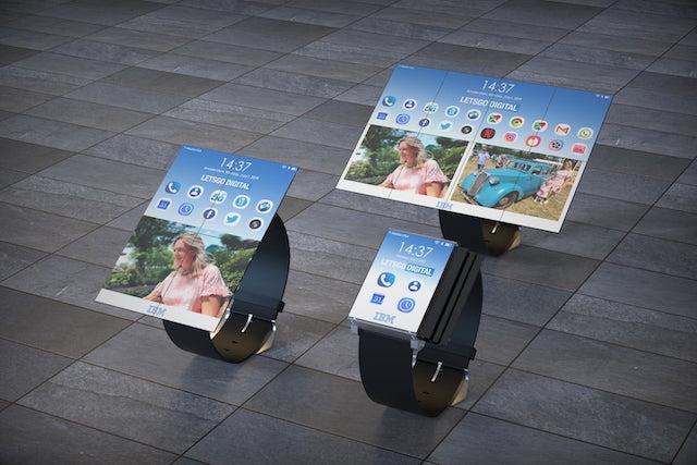 IBM pracuje na hodinkách s rozložitelným displejem