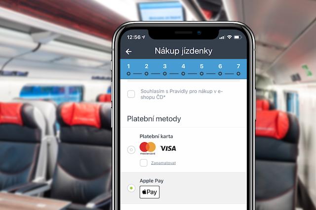 V aplikace Českých drah nyní koupíte jízdenky i přes Apple Pay