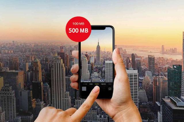 Vodafone nyní nabízí v Roamingu na den 5x více dat