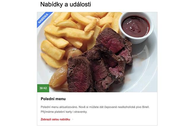 Seznam.cz začal zobrazovat denní menu restaurací