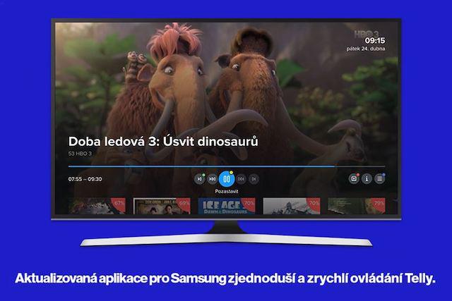 Telly aktualizovala aplikaci pro Samsung Smart TV