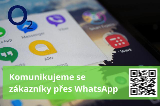 Zákazníci O2 nyní mohou se svým operátorem komunikovat přes WhatsApp