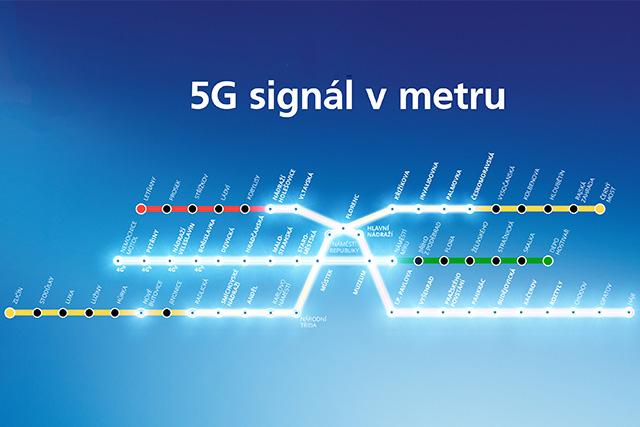 O2 plánuje pokrýt pražské metro 5G signálem
