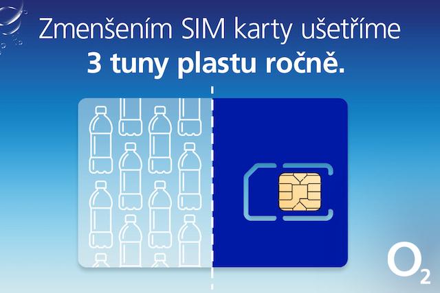 O2 zmenšuje SIM karty na polovinu: Ušetří díky tomu 3 tuny plastu ročně