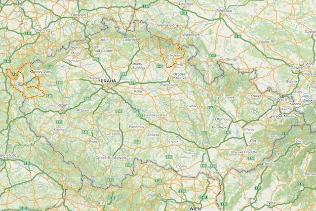Mapy.cz zobrazují okresy, které jsou aktuálně v karanténě
