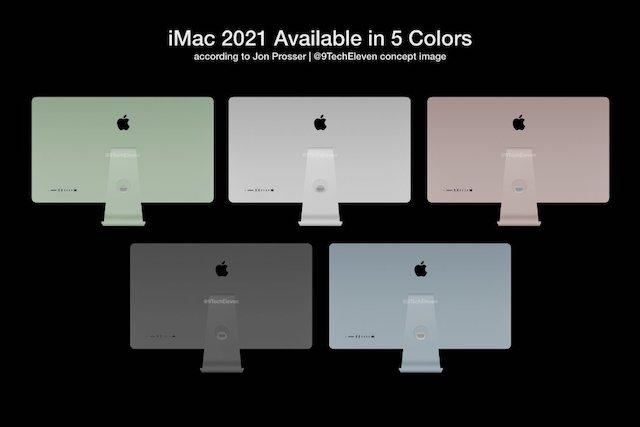 Nové iMacy budou dostupné v 5 barevných variantách