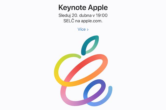 Jarní Apple keynote se uskuteční už příští týden