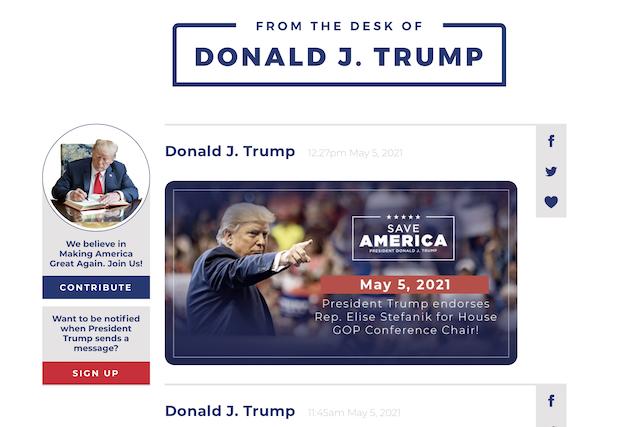 Trump spustil místo sociální sítě vlastní blog