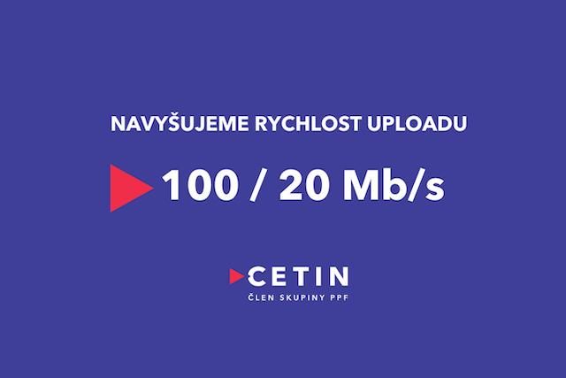 CETIN v síti xDSL navyšuje rychlost uploadu na dvojnásobek