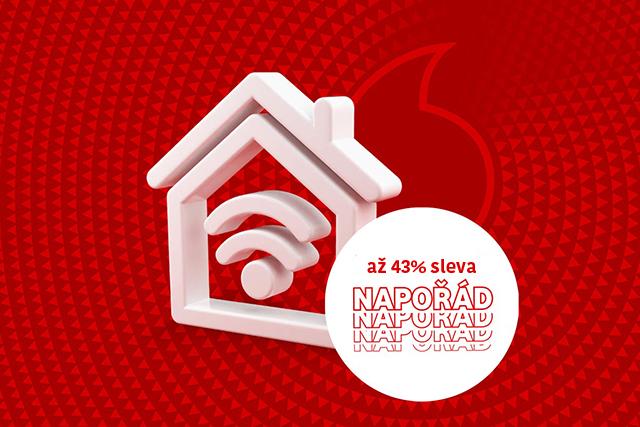 Slevu napořád na pevný internet od Vodafonu můžete využít i v červnu