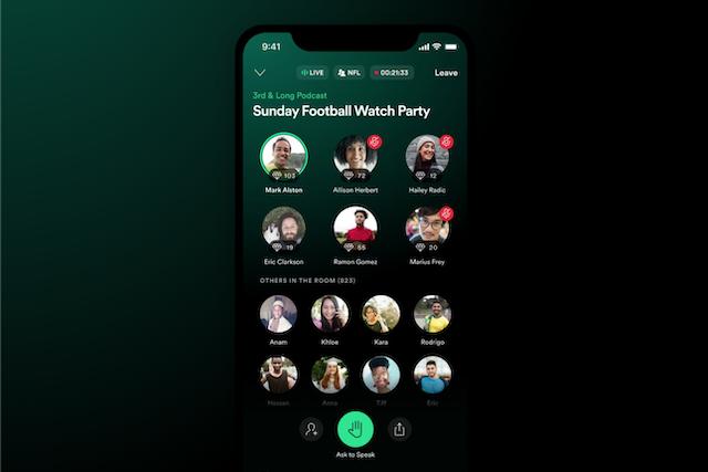 Greenroom: Spotify představilo další konkurenci Clubhousu