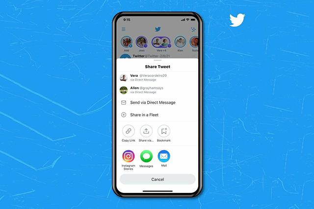 Twitter umí sdílet příspěvky do Instagram Stories