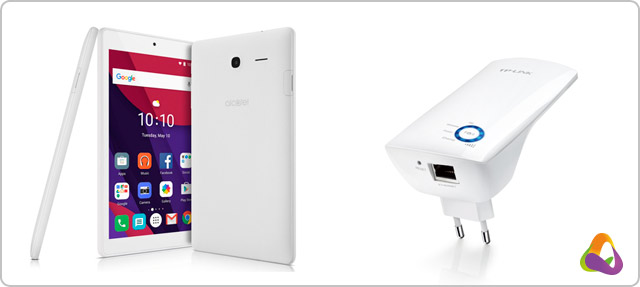 Tablet za korunu, zesilovač Wi-Fi zdarma