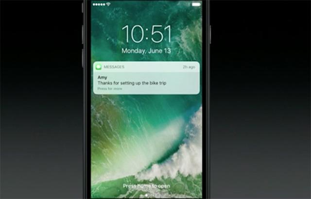 iOS 10 notifikace