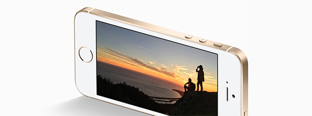 iPhone SE zlatý