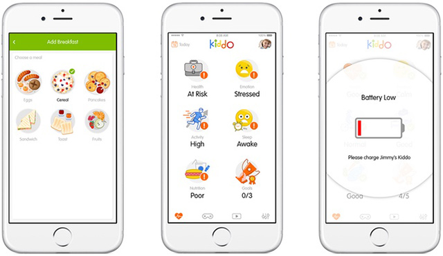 Chytré hodinky Kiddo - aplikace