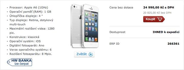iPhone 5 od O2