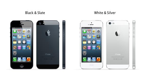 iPhone 5 -barvy
