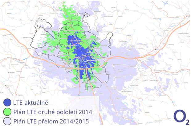 O2 LTE v Brně 2014