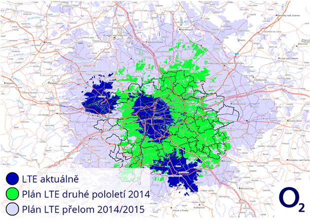O2 LTE v Praze 2014