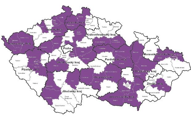 Mapa GEO regionů platná od 15.3.2013