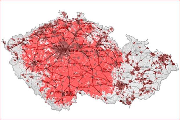 Vodafone pokrytí Turbo internet březen 2014
