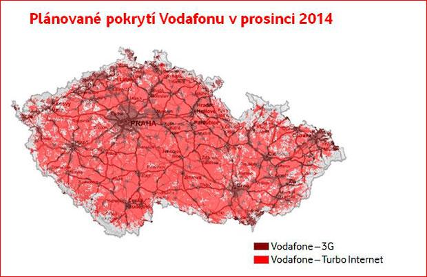 Vodafone pokrytí Turbo internet prosinec 2014
